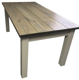 Drifwood Grey Harvest Table Beach Style Dining Tables By Ezekiel Stearns