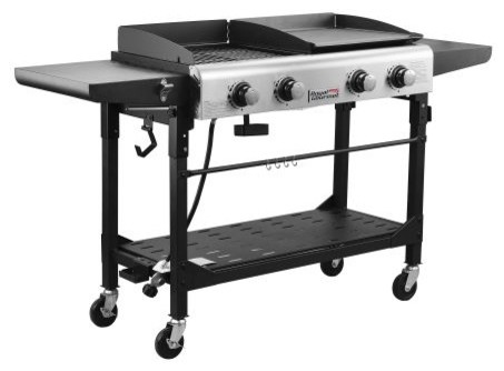 Royal Gourmet Gd401 Premium 4-Burner Outdoor Gas Grill And Griddle.