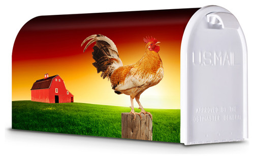 Decorative Mailbox, Rooster Sunrise