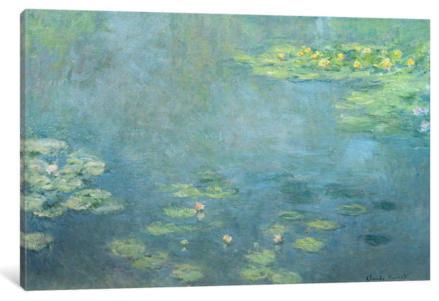 """Waterlilies"" by Claude Monet, 60x40x1.5"""