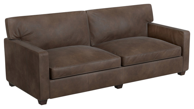 Manhattan Sofa, Whiskey Leather. -1