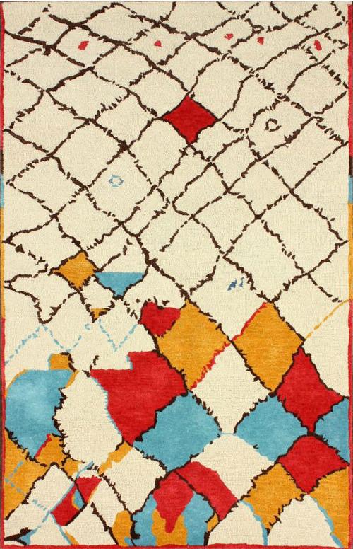 Moroccan Area Rug, 5