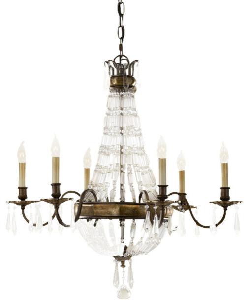 Discount Murray Feiss Lighting: Murray Feiss Bellini 6 Light Bronze Chandelier