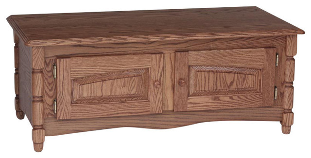 Solid Oak Country Style Coffee Table With Storage Autumn