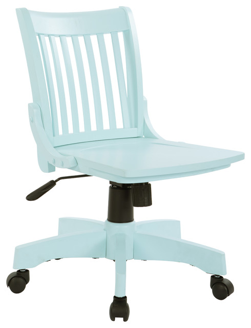 Deluxe Armless Wood Bankers Chair, Mint
