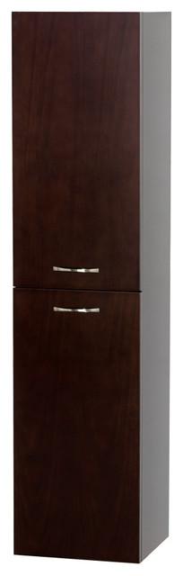 Wall-Mounted Bathroom Storage Cabinet, Espresso.