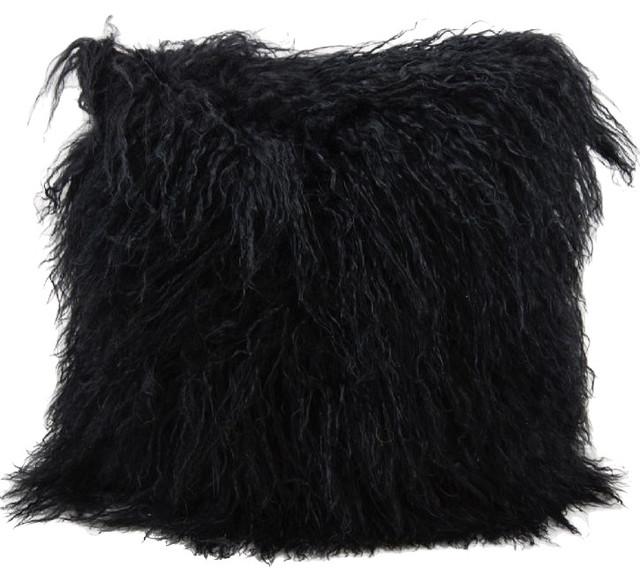 Faux Fur Pillow Decorative Pillow - Contemporary - Decorative Pillows - by RugPal