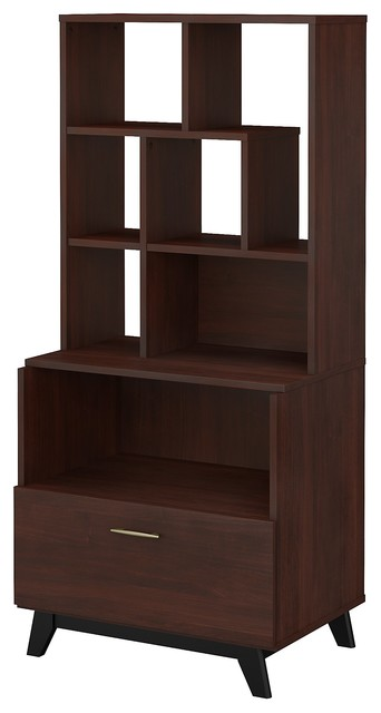 Office By Kathy Ireland Centura Lateral File Cabinet With Bookcase Hutch