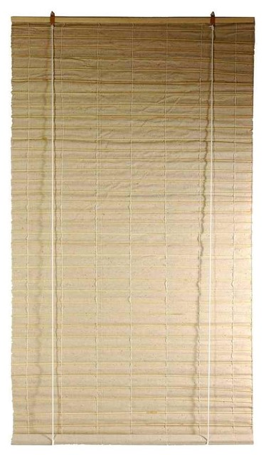 Bianco Jute Roll Up Blinds In Natural 24 In W X 72 In H