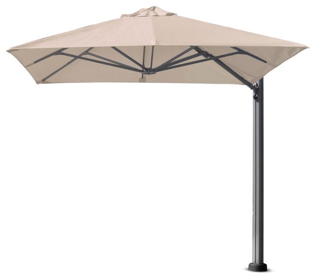 8&x27;2 Square Uno White Sand Umbrella, Surface Plate.