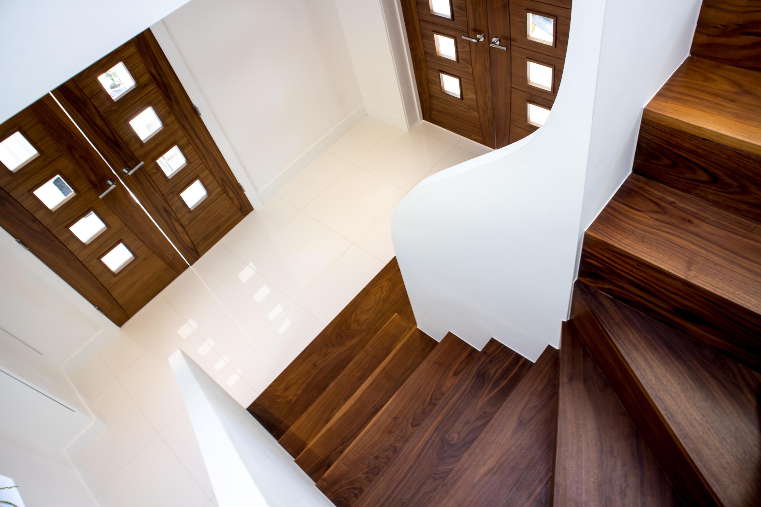 Walnut Staircase - Winders
