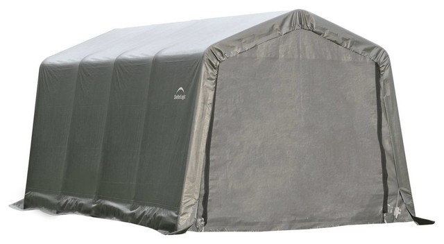 8&x27;x16&x27;x8&x27; Peak Style Shelter, Gray Cover.