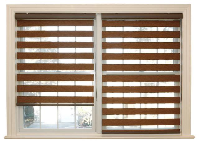 Premium Wood Look Duo Roller Window Shade
