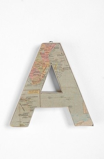 Around the World Letter eclectic accessories and decor