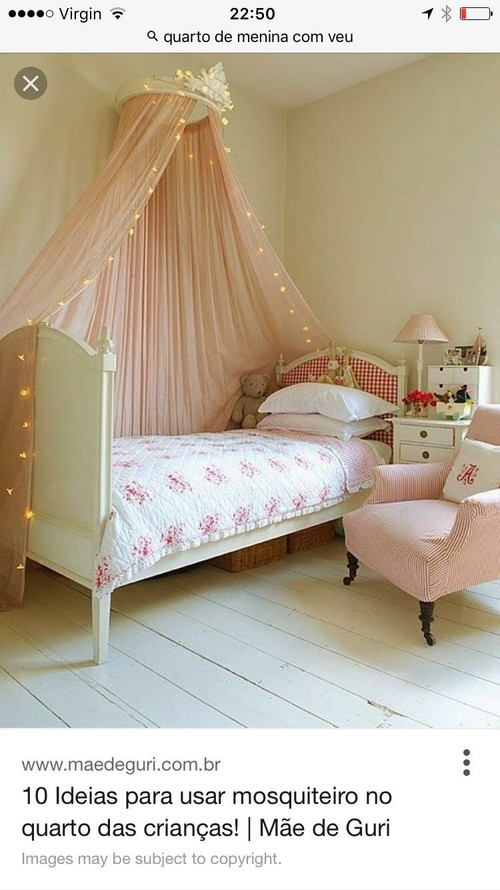 & Bed canopy or corona (metal or wood) with net