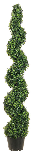 5 foot tall pond boxwood spiral topiary plant for Artificial plants for outdoor ponds