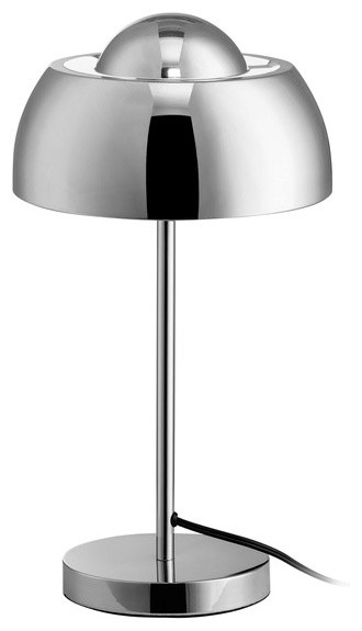 "Euro Style Collection Vienna 17"" Chrome Table Lamp."