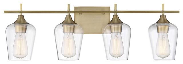 Savoy House Octave 4-Light Bath Bar, Warm Brass