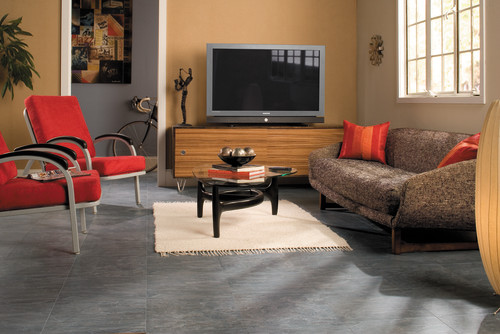 Captivating Quadra   Charcoal Grey Tiles   UF1019 Contemporary Living Room Part 28