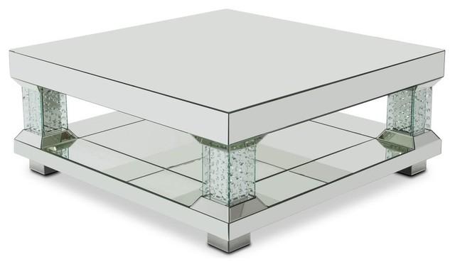 Alico Michael Amini Montreal Mirrored Cocktail Table