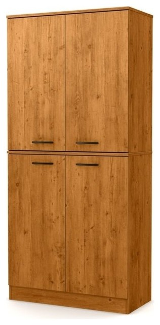 South Shore Axess Armoire Chocolate Transitional
