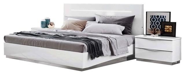 Onda Legno 3-Piece Bedroom Set, White, Queen