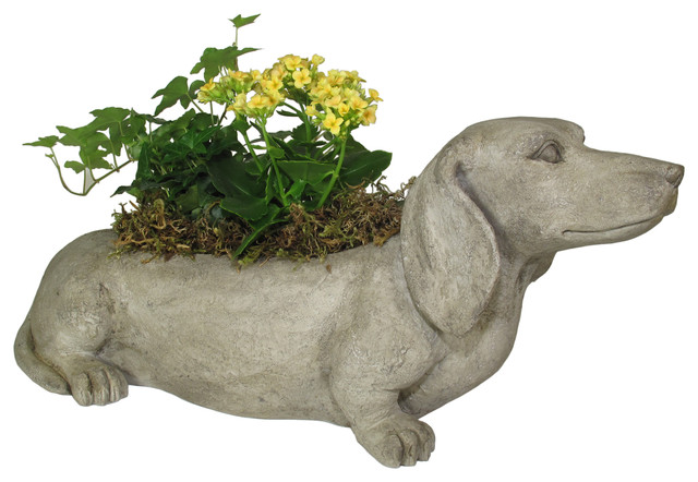 Dachshund Planter Contemporary Outdoor Pots And Planters By Expo Decor Llc