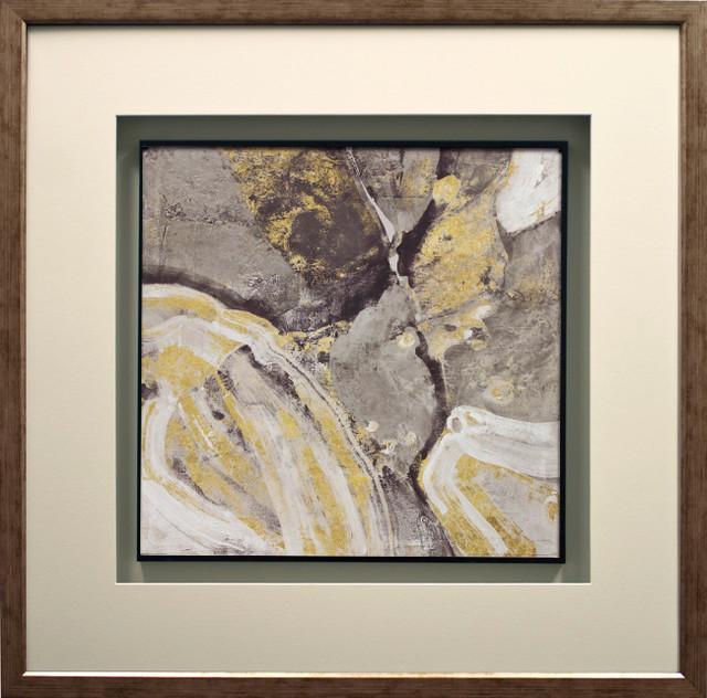 """phoenix Neutral"" By Albena Hristova, Double Molding, Antique Silver, 29""x29""."