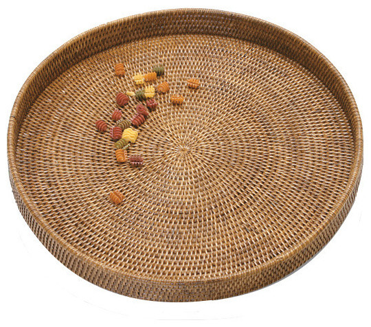 Artifacts Rattan™ Round Serving/Ottoman Tray