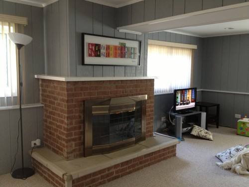 How To Update This Dated Brick Fireplace