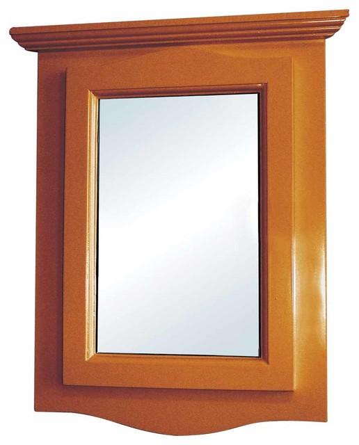 Golden Oak Hardwood Barthoom Medicine Cabinet Corner Wall Mount Traditional Medicine Cabinets By Renovator S Supply