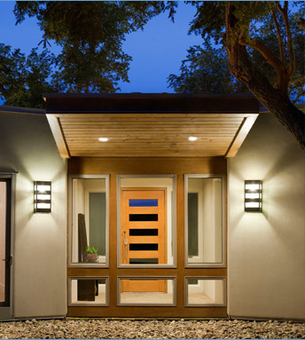 Contemporary exterior wall sconce lighting contemporary austin by lightcrafters inc for Contemporary exterior wall lights