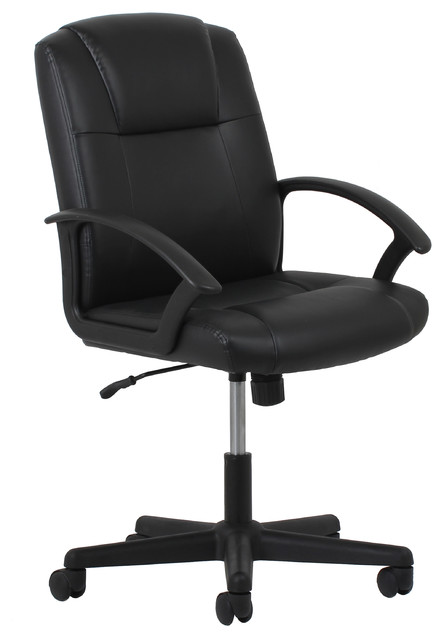 Essentials By Ofm Ergonomic Leather Executive Office Chair With Arms, Black.