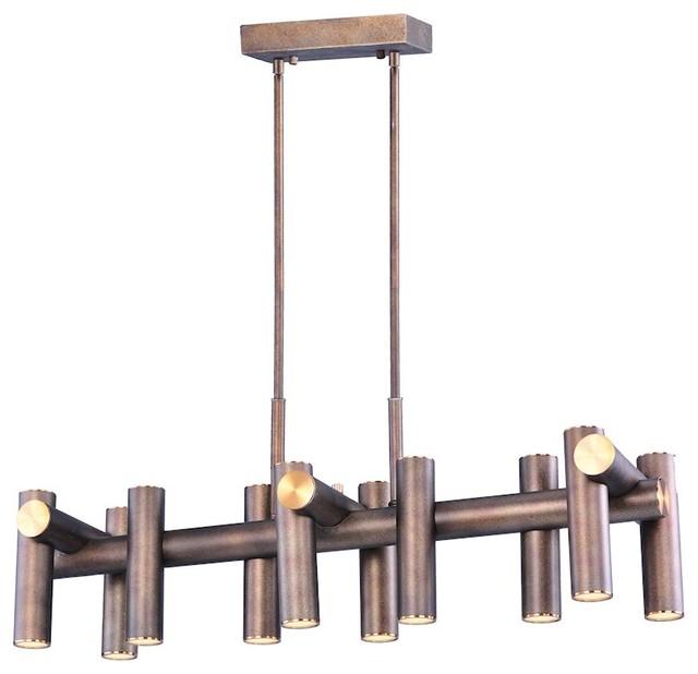 Maxim Lighting 13.25 x10.5  Tubular LED Pendant Bronze/Brass contemporary  sc 1 st  Houzz & Maxim Lighting 13.25