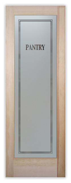 Pantry Door Classic Design Frosted Glass Door, 30 X 80 X 1.38.