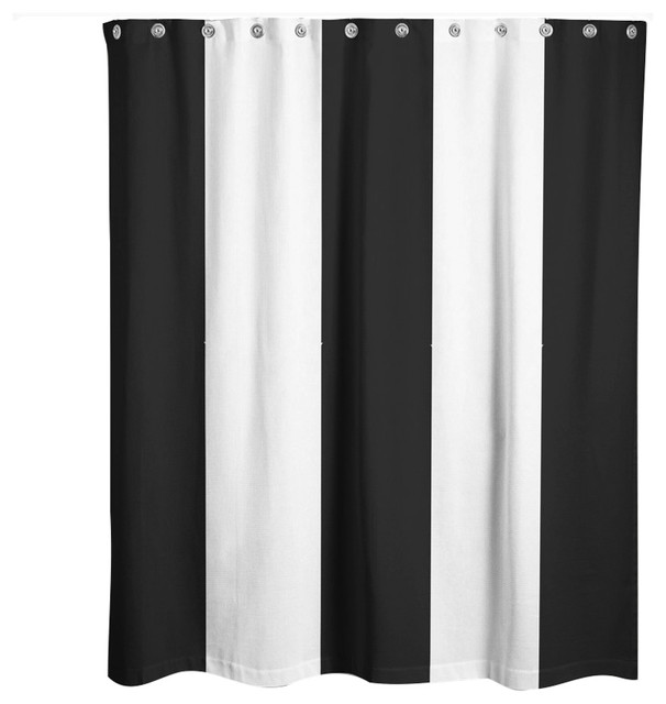 black and white striped shower curtain. Black Vertical Striped Shower Curtain contemporary shower curtains  Contemporary