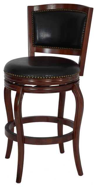 29 Quot Harris Memory Swivel Stool Cherry Traditional Bar