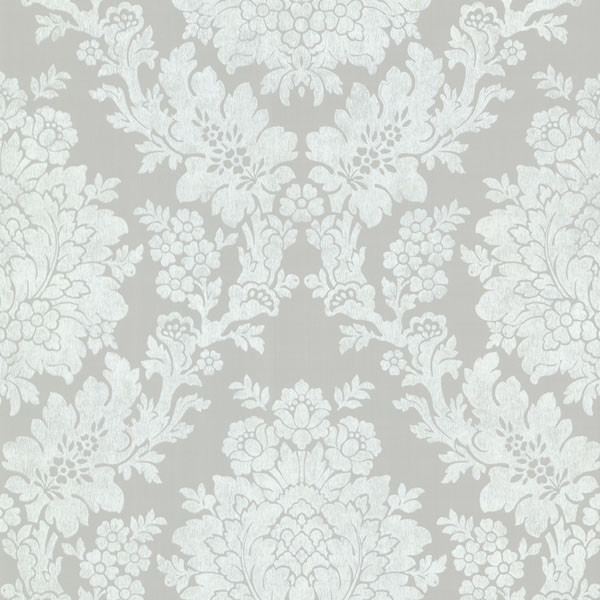 Liza Gray Roselle Damask Wallpaper, Bolt contemporary-wallpaper - Liza Gray Roselle Damask Wallpaper - Contemporary - Wallpaper - By