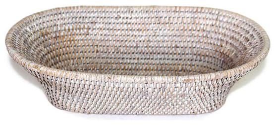 Bread Basket Oval Narrow White Farmhouse Baskets By