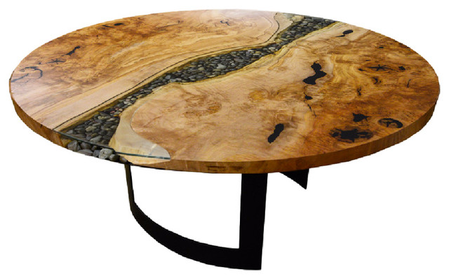 Shop Houzz Live Edge Design Inc Round River Run Dining