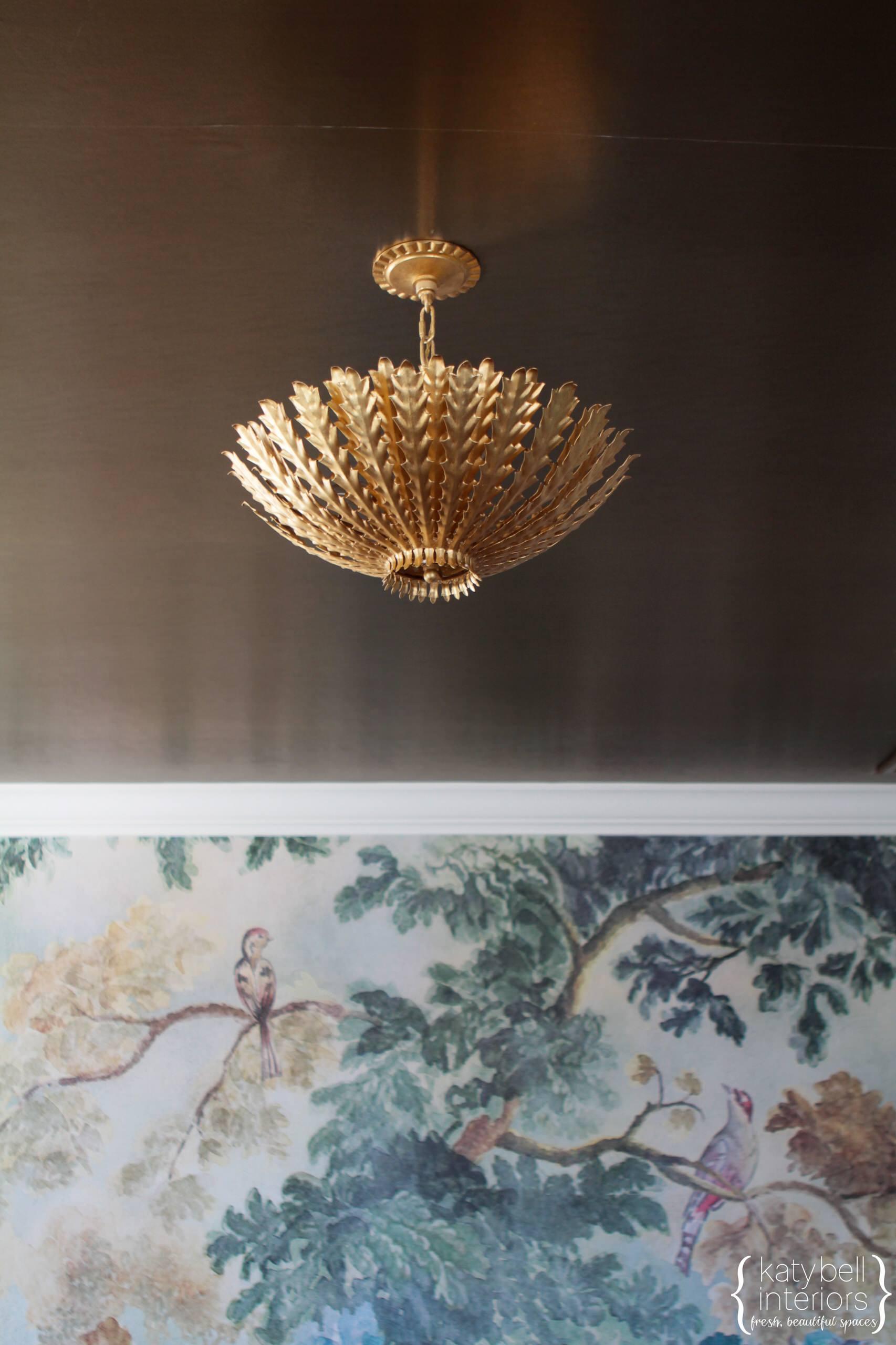 Gold Leaf Chandelier