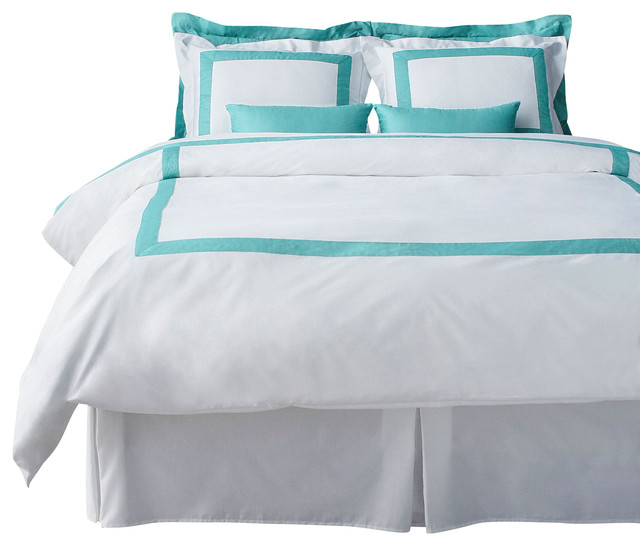 lacozi cotton sateen modern hotel collection powder blue duvet cover set queen