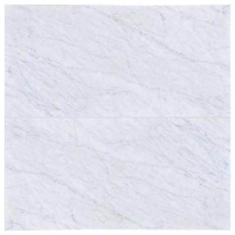 12 X24 Carrara Honed Marble Field Tile White