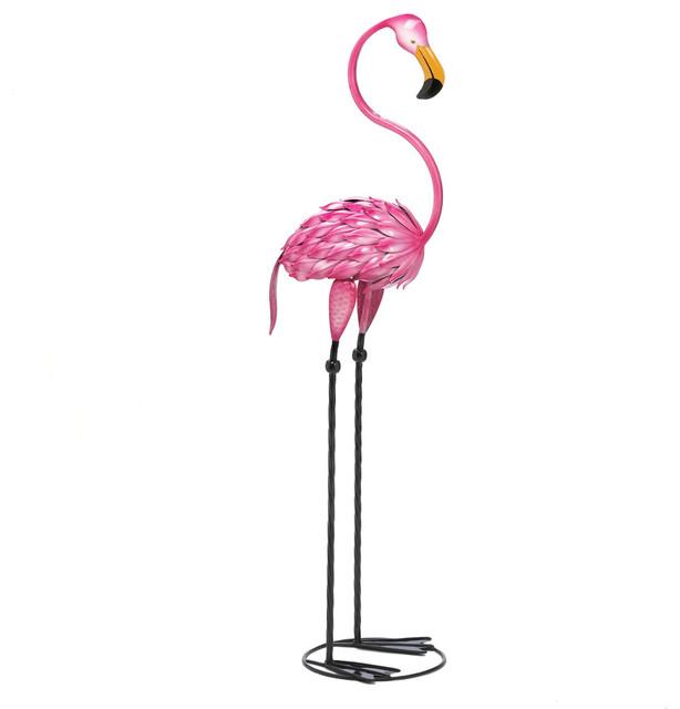 Tropical Tango Flamingo Garden Statue