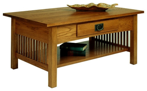 Marvelous A. A. Laun Workbench Classics Cocktail Table With Drawer 2600 Craftsman  Coffee Tables