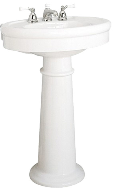 American Standard Standard Collection Pedestal Sink White Contemporary
