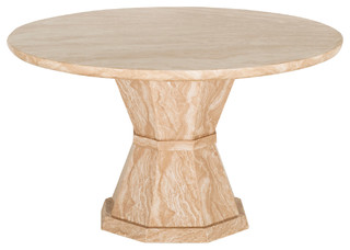 Marble Marcello Round Dining Table, Large