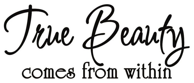 True Beauty Comes From Within Vinyl Wall Quote Lettering Decal