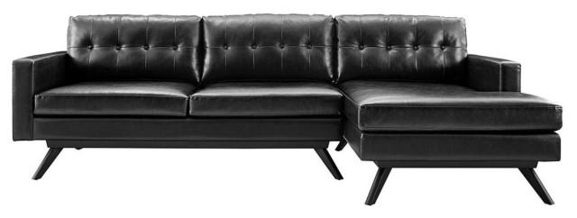 blake sectional sofa black right