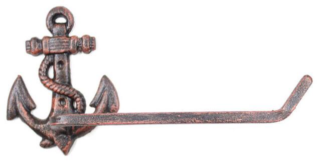 "Beach Bathroom Decora Antique Bronze Cast Iron Mermaid Toilet Paper Holder 10/"""
